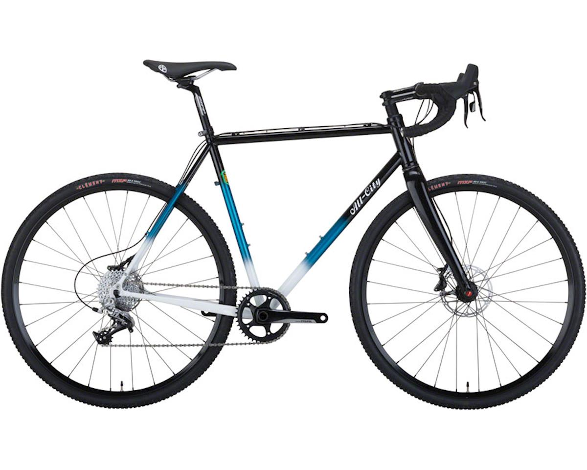 All-City 49cm Macho King Complete Bike (Black/Teal Fade)