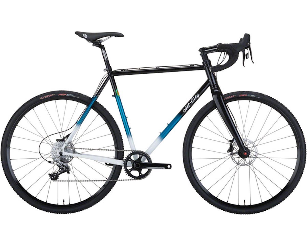 All-City 55cm Macho King Complete Bike, Black/Teal Fade