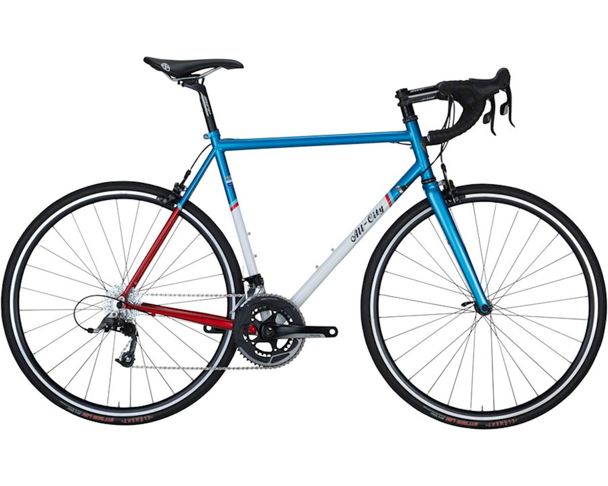 49cm Mr Pink ZONA 11-speed Complete Bike, Aqua/Red/White