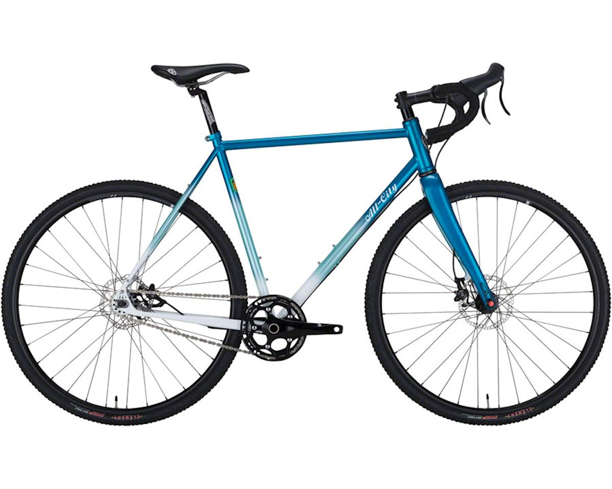 All-City Nature Boy Disc 853 Complete Bike 58cm, Teal/White Fade