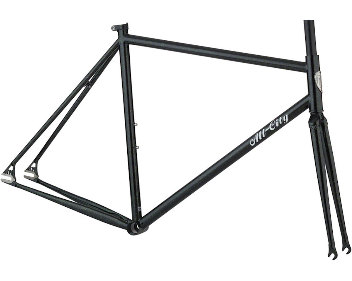 All-City 46cm Big Block Frameset (Black/Green Sparkle)