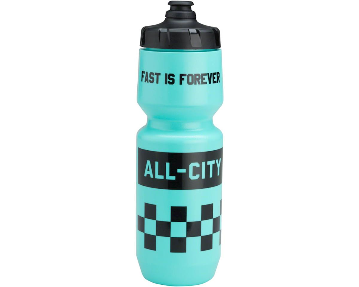 All-City Fast is Forever Purist Water Bottle (Turquoise) (26oz)