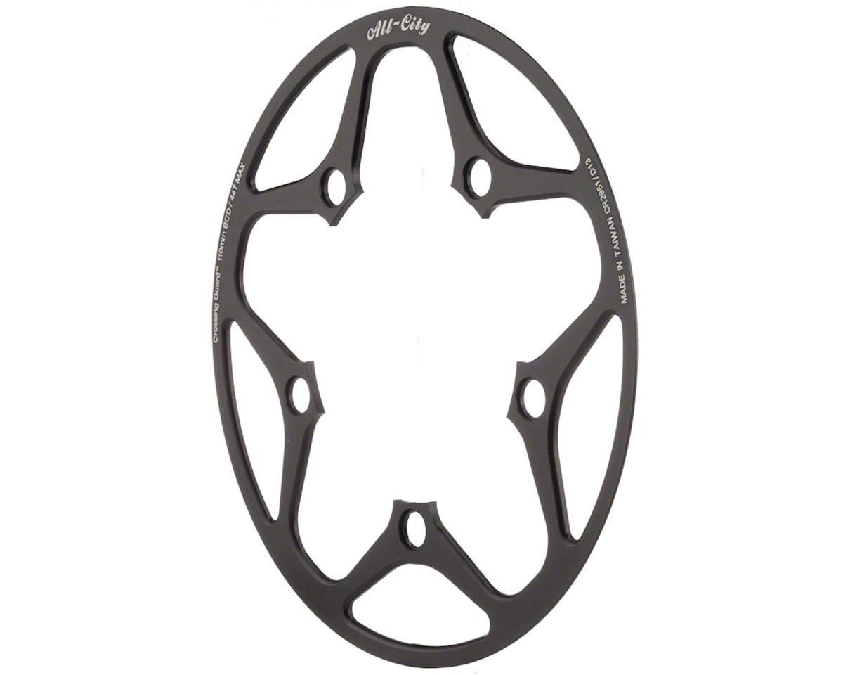 All-City Cross Wizard Chainring Guard (Black) (110mm BCD)