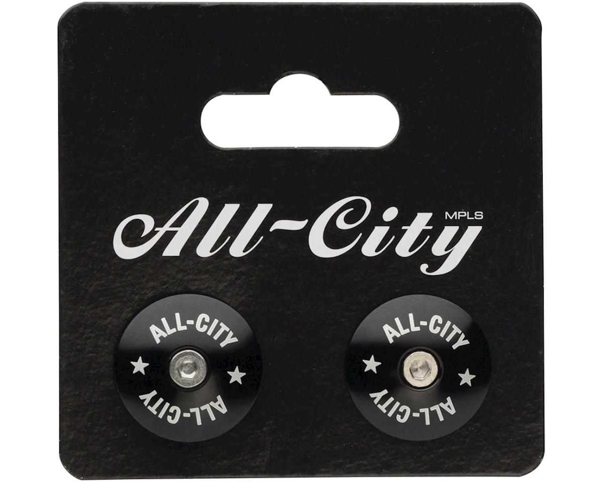 Image 2 for All-City Locking Handlebar End Plugs (Black)