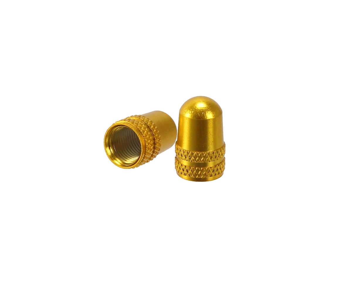 Alligator Alloy valve cap, Schrader, gold - pair