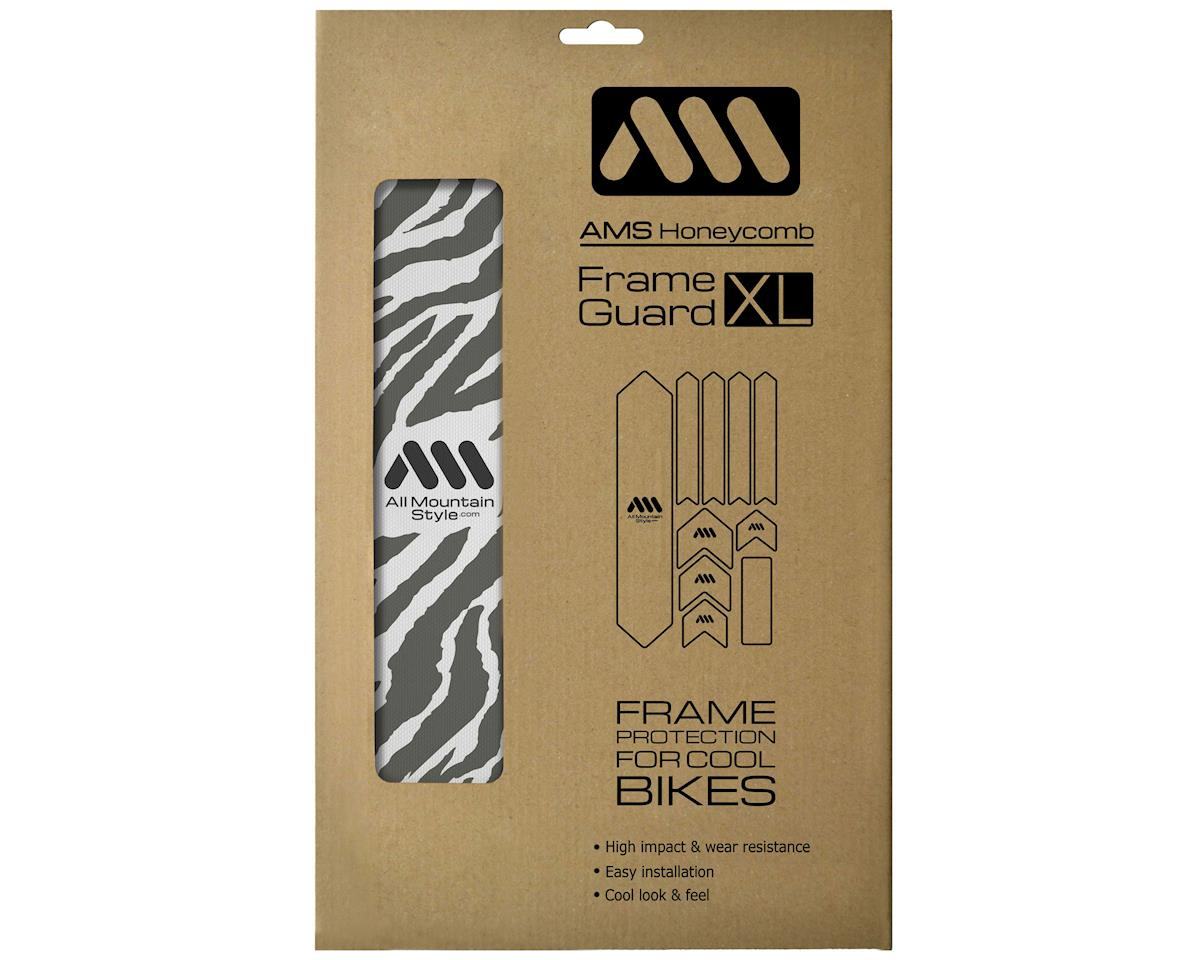 All Mountain Style Honeycomb Frame Guard XL (Zebra) (Grey)