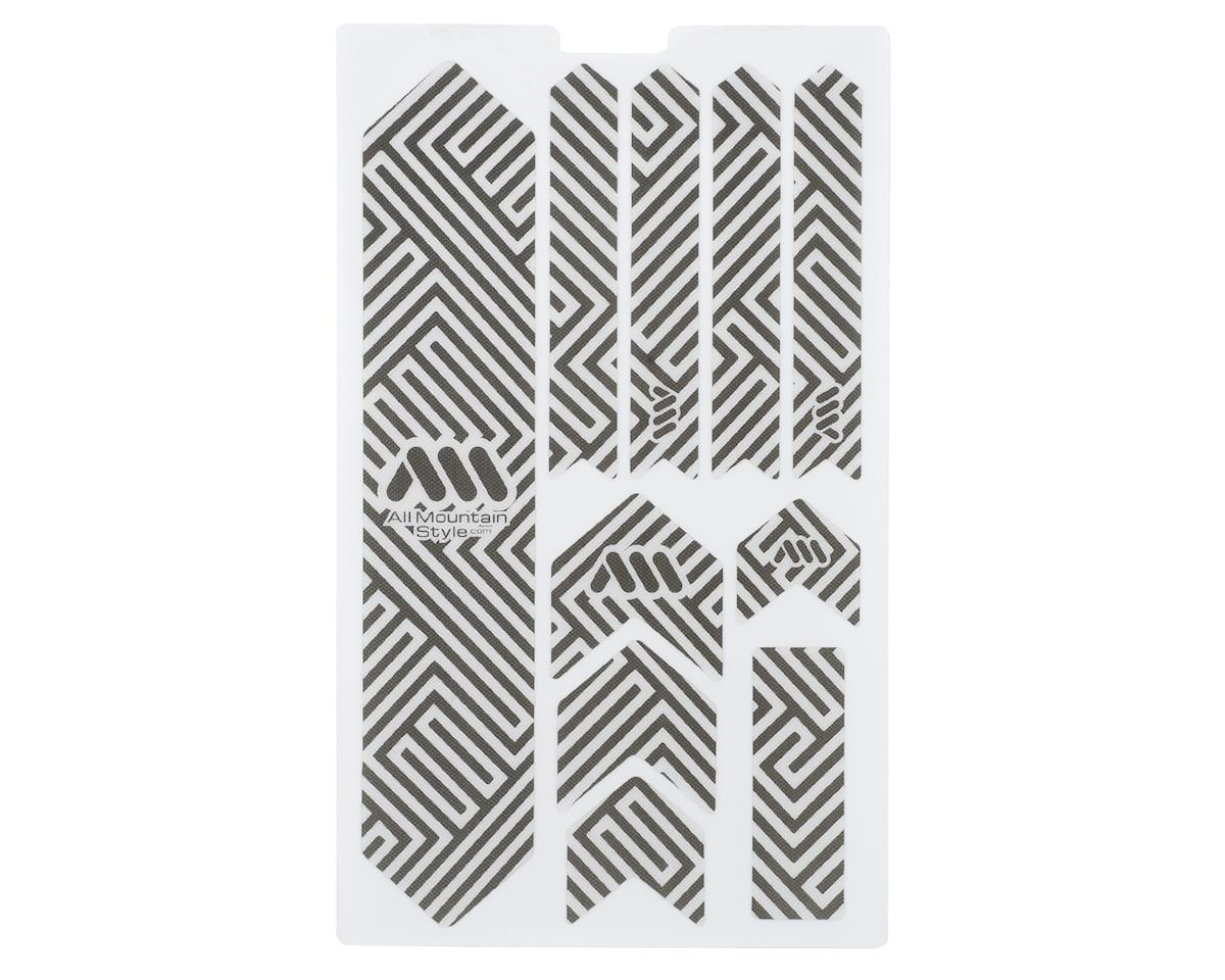 All Mountain Style AMS Protect Crank Arms Crank Guard Stickers Clear//Silver