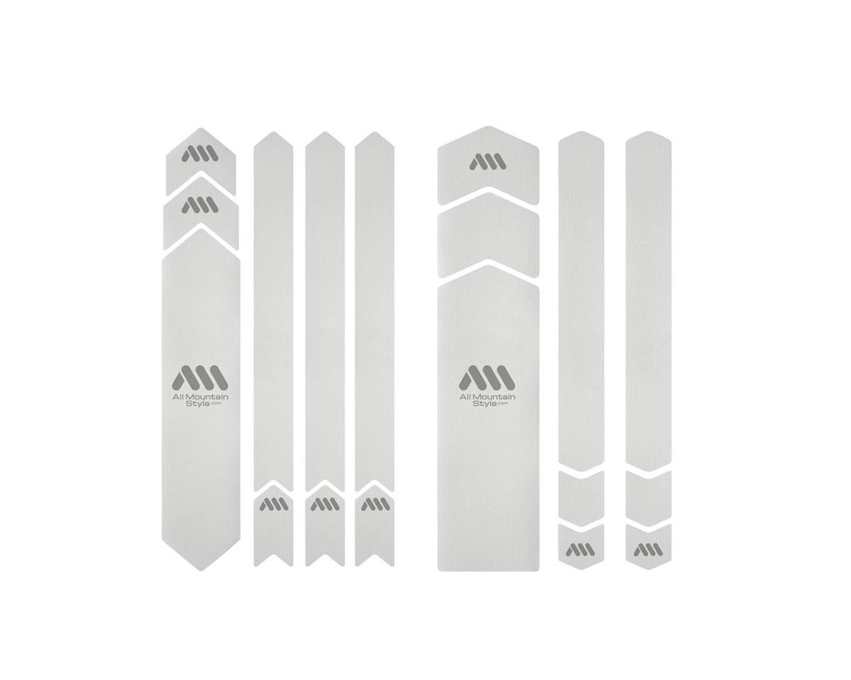 All Mountain Style Honeycomb Frame Guard (Clear/Silver)