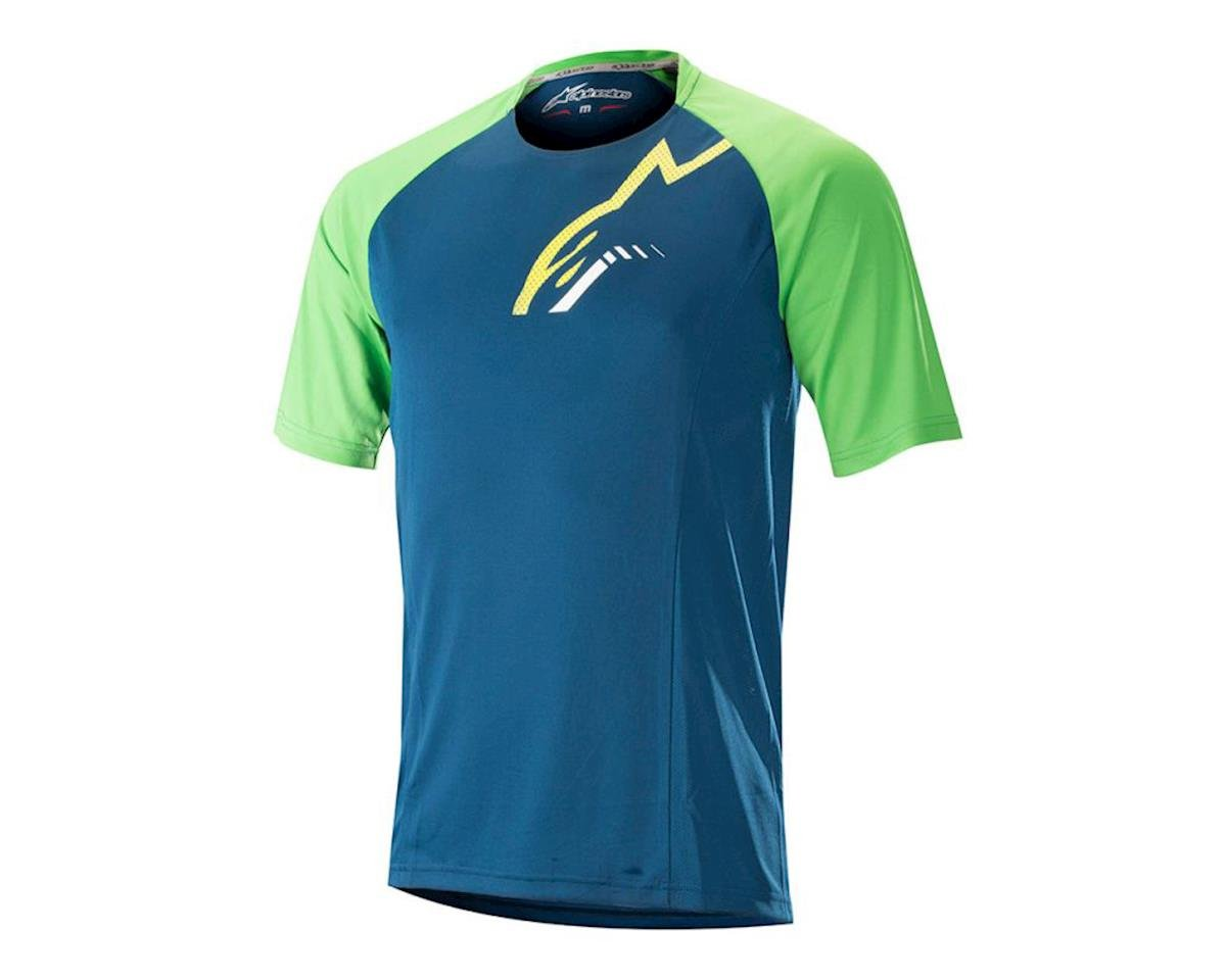 Alpinestars Trailstar, Short Sleeve Jersey, blue/green