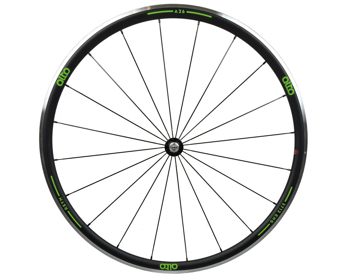Alto Wheels A26 Front Aluminum Road Wheel (Green)