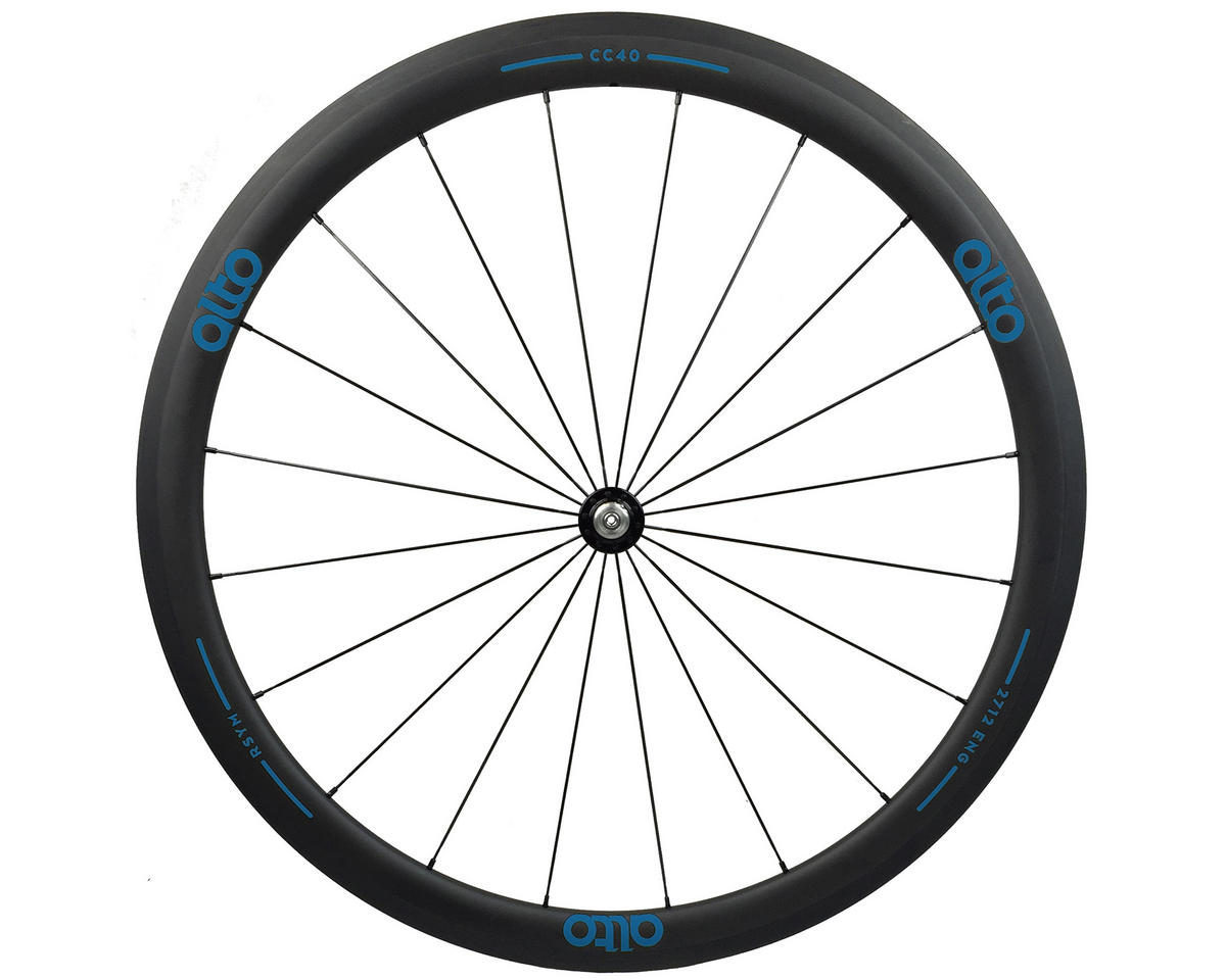 CC40 Carbon Front Clincher Road Wheel (Blue)