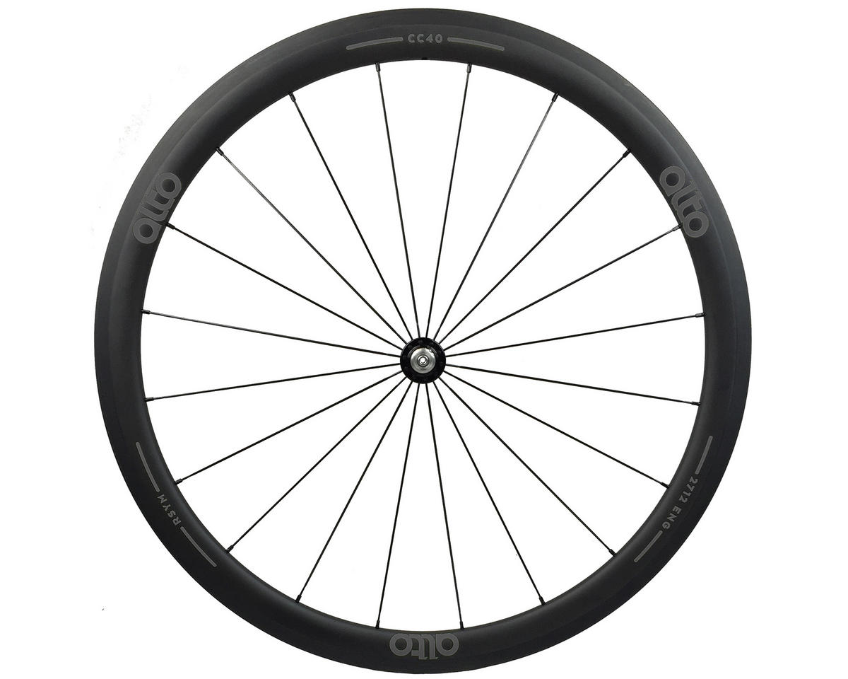 CC40 Carbon Front Clincher Road Wheel (Grey)