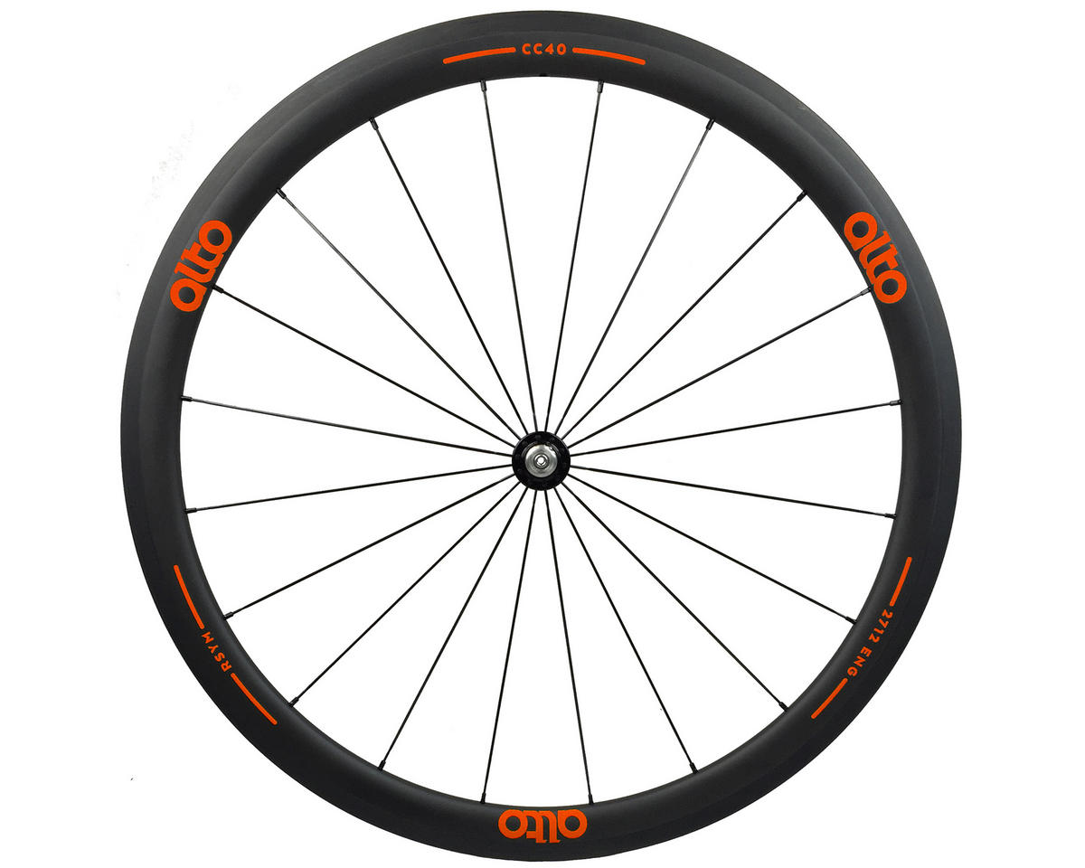 Alto Wheels CC40 Carbon Front Clincher Road Wheel (Orange)