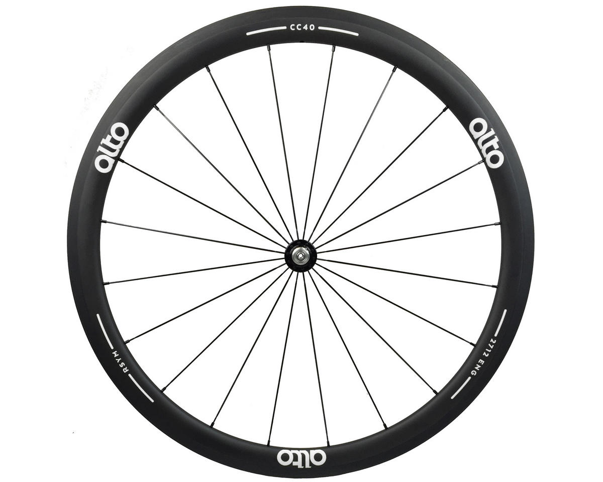 Alto Wheels CC40 Carbon Front Clincher Road Wheel (White)