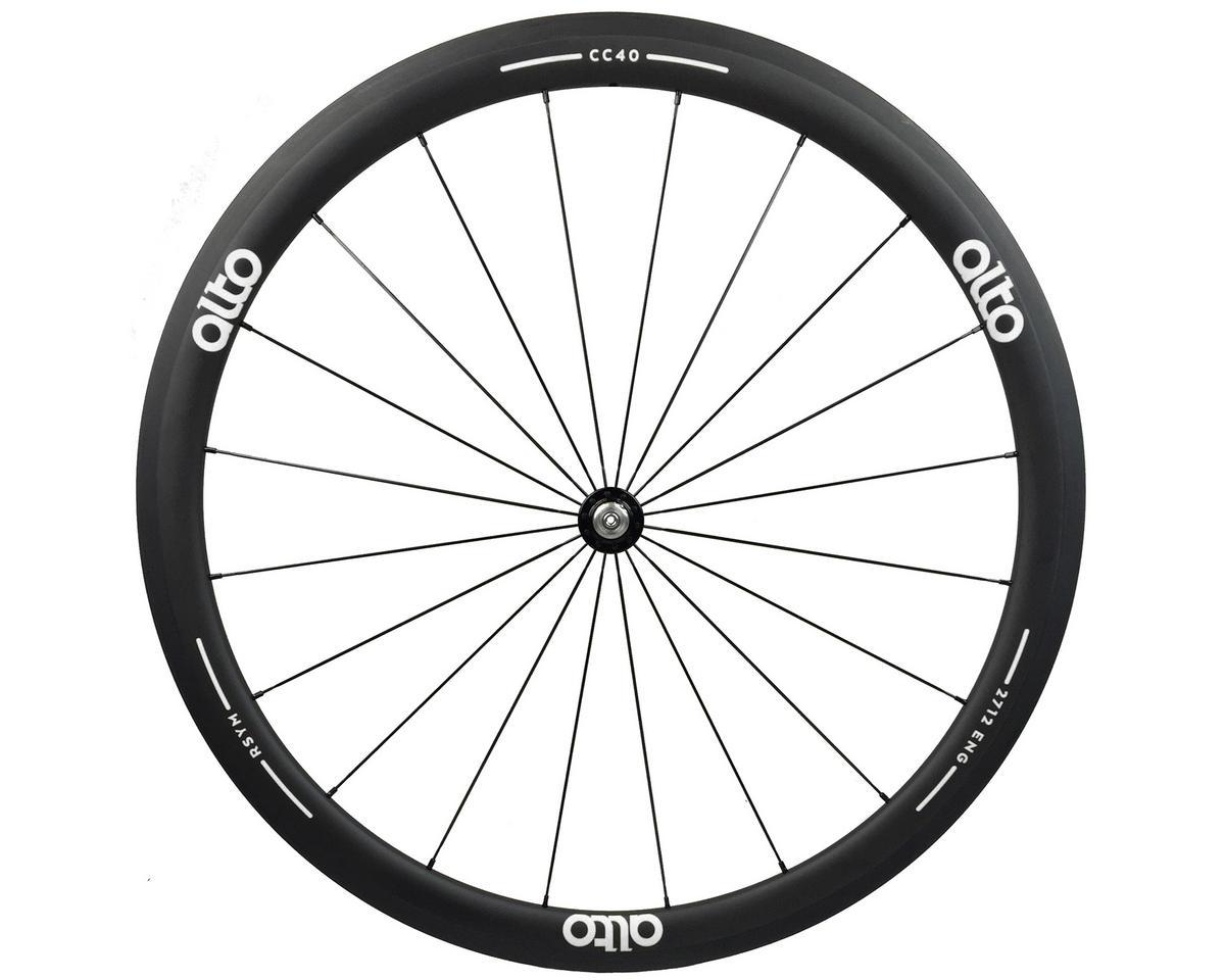 Alto Wheels CC40 Carbon Front Clincher Road Wheel (White)