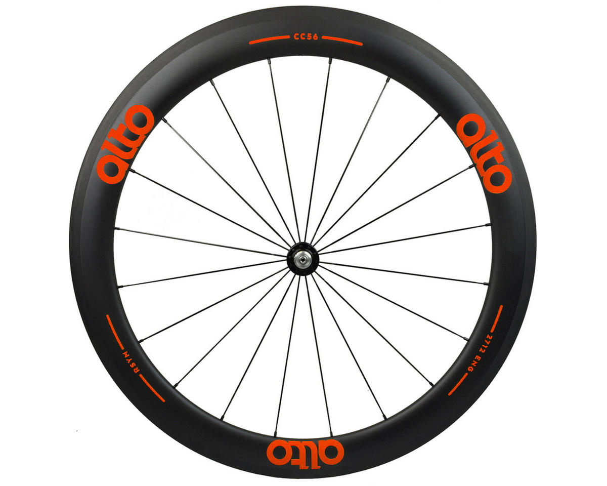CC56 Carbon Front Clincher Road Wheel (Orange)