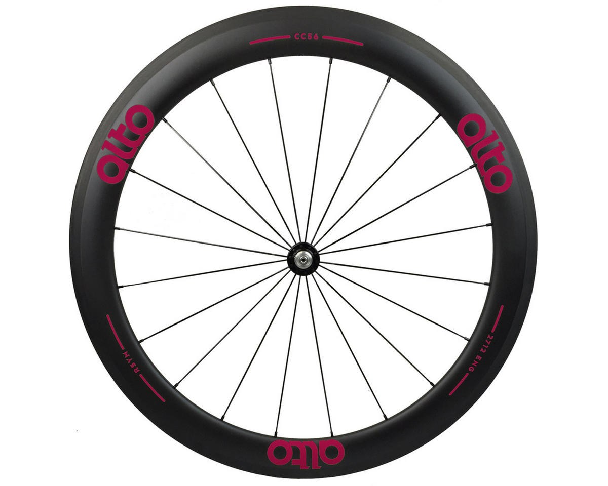 Alto Wheels CC56 Carbon Front Clincher Road Wheel (Pink)