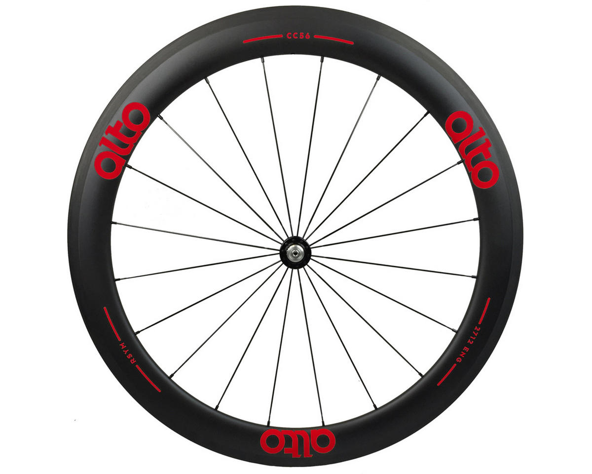 CC56 Carbon Front Clincher Road Wheel (Red)