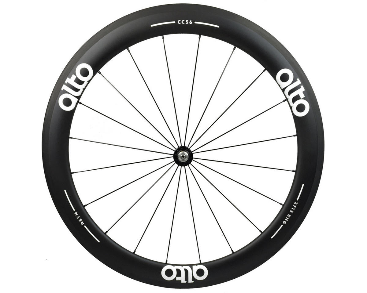 CC56 Carbon Front Clincher Road Wheel (White)