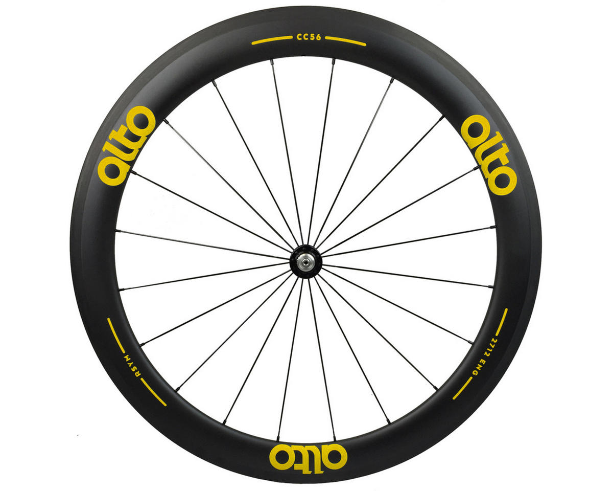 CC56 Carbon Front Clincher Road Wheel (Yellow)