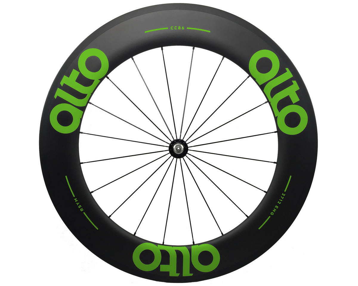 Alto Wheels CC86 Carbon Front Clincher Road Wheel (Green)