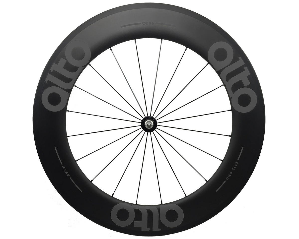 CC86 Carbon Front Clincher Road Wheel (Grey)