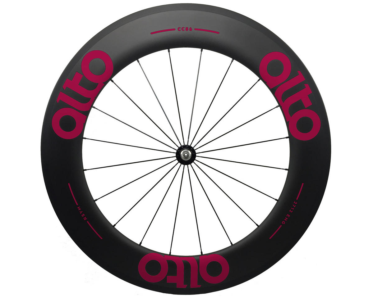 CC86 Carbon Front Clincher Road Wheel (Pink)