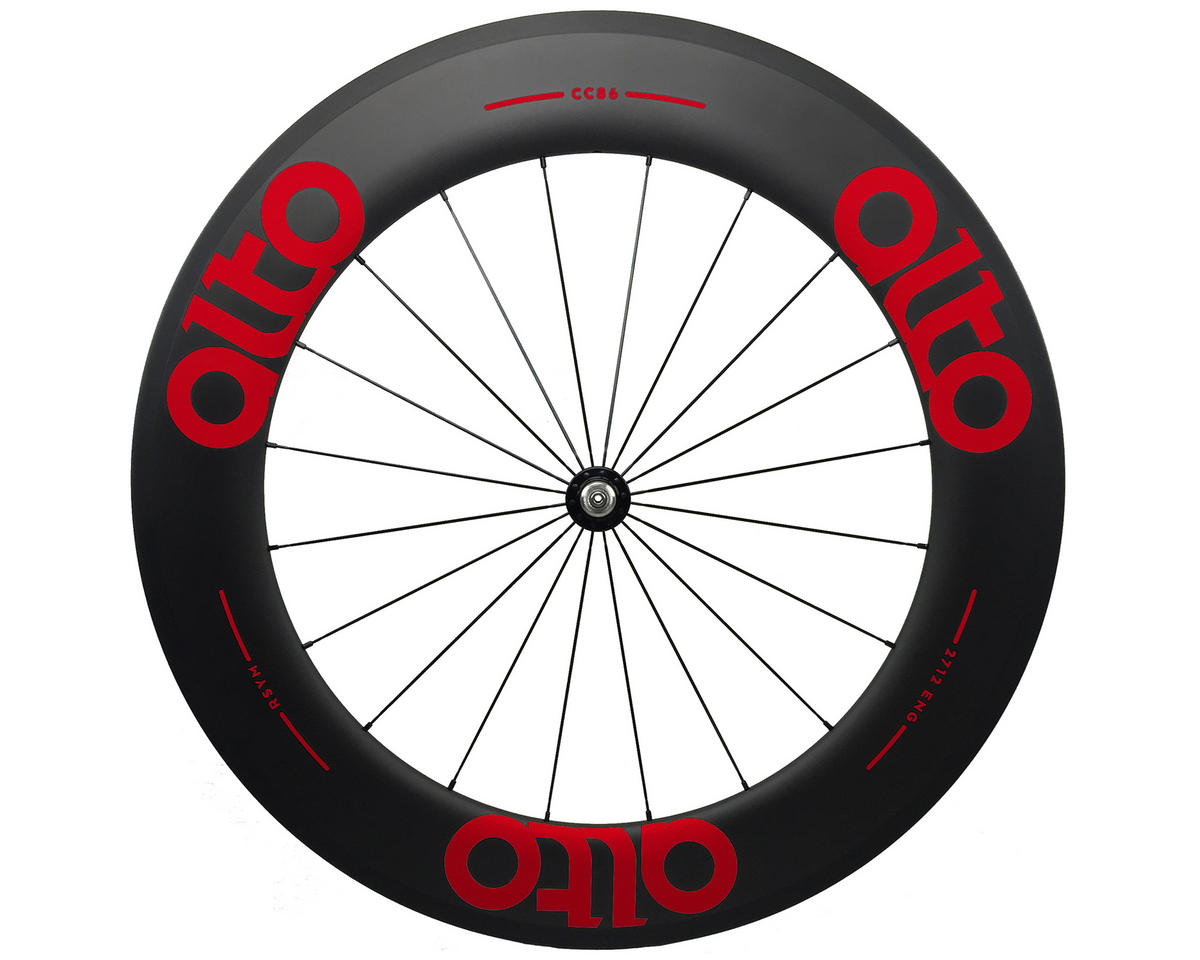 Alto Wheels CC86 Carbon Front Clincher Road Wheel (Red)