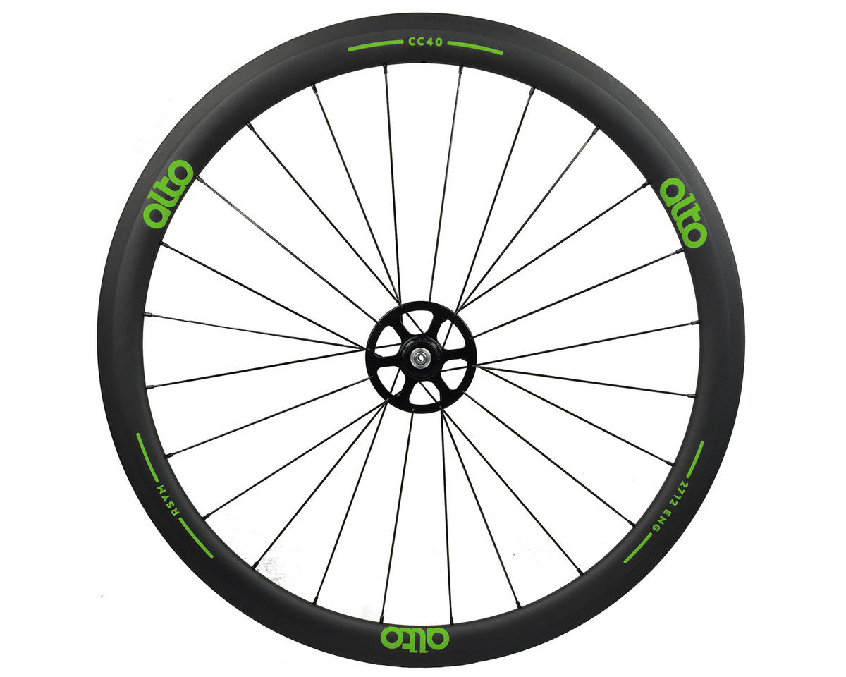 Alto Wheels CC40 Carbon Rear Clincher Road Wheel (Green)
