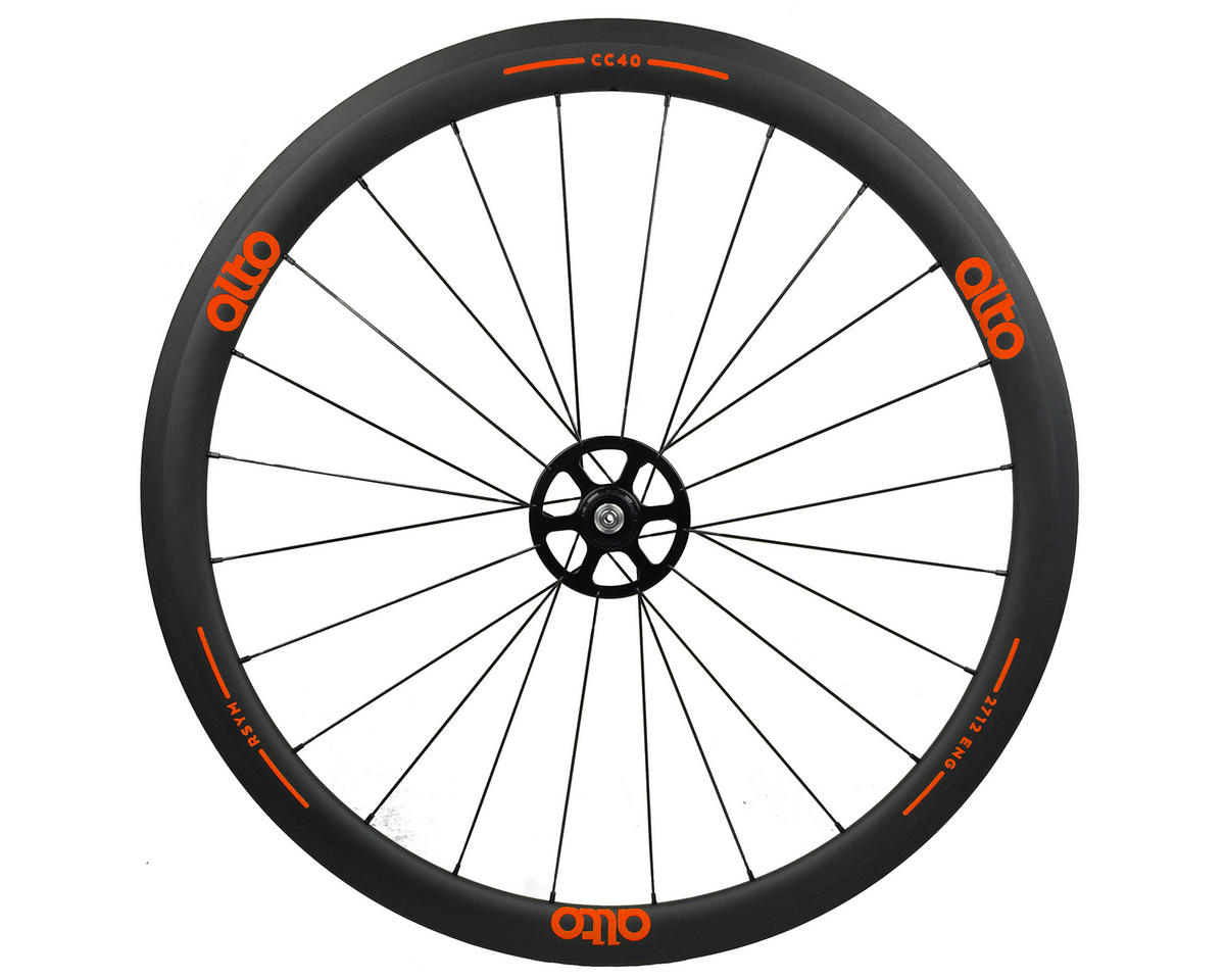 Alto Wheels CC40 Carbon Rear Clincher Road Wheel (Orange)