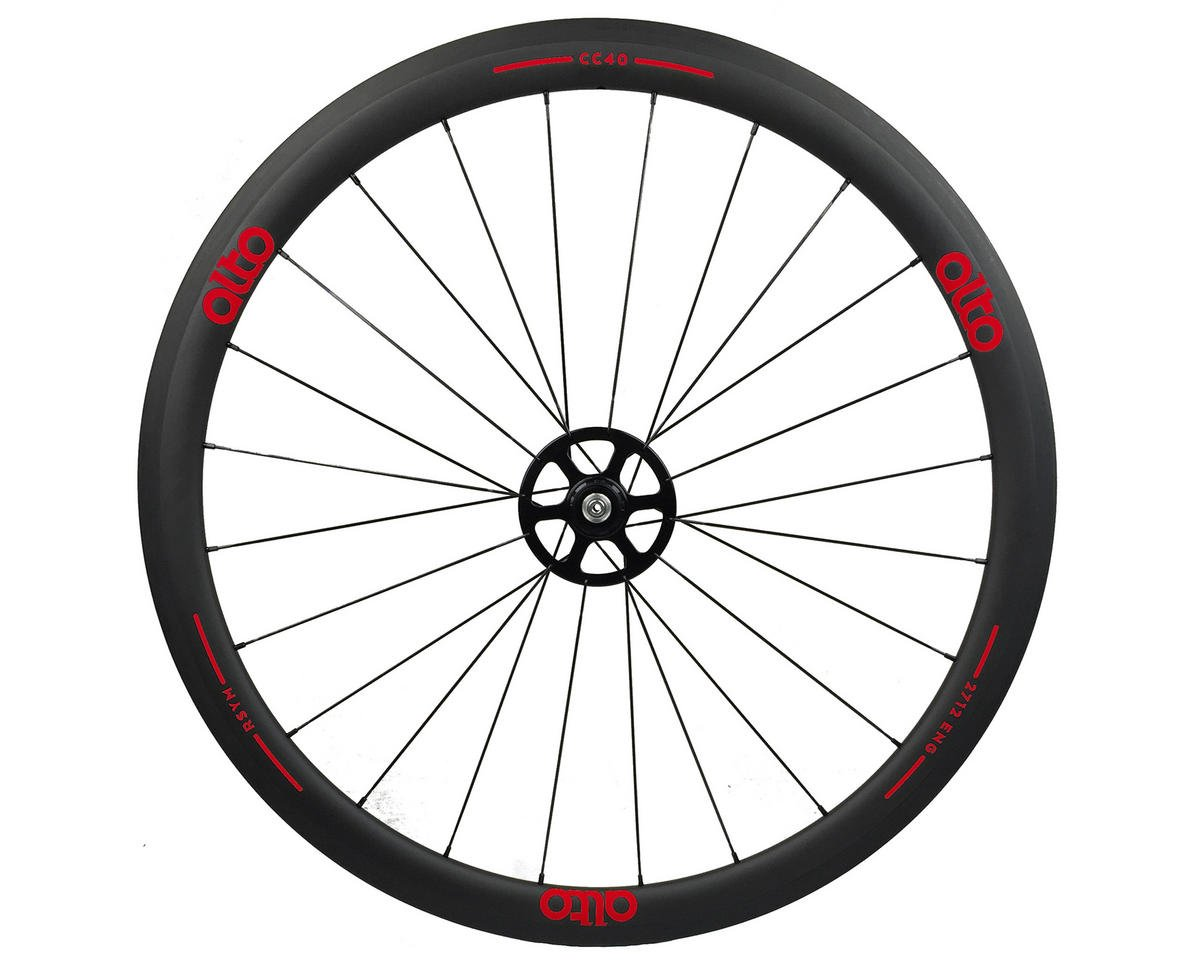 Alto Wheels CC40 Carbon Rear Clincher Road Wheel (Red)
