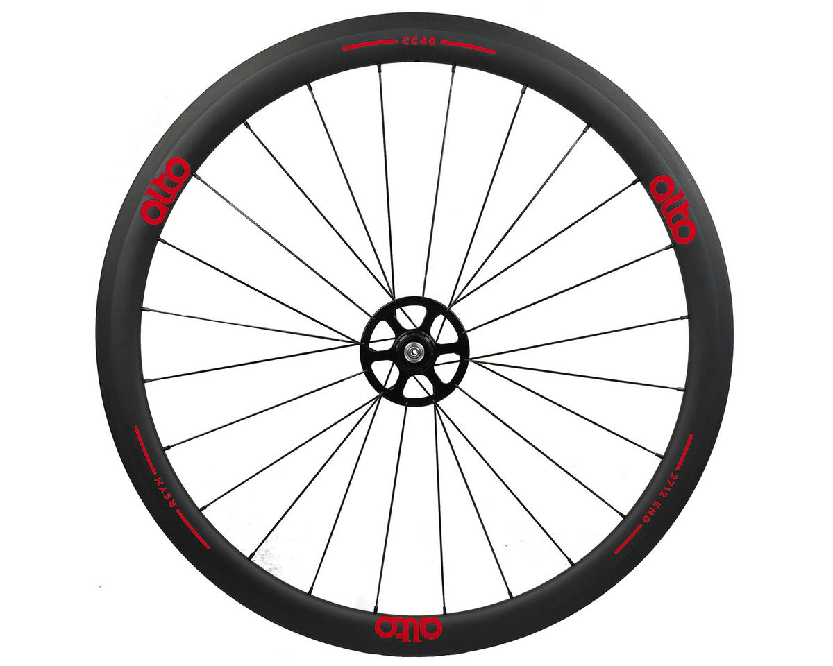 CC40 Carbon Rear Clincher Road Wheel (Red)