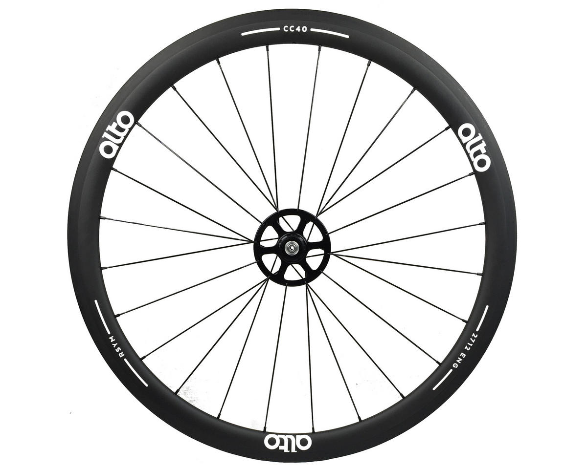 CC40 Carbon Rear Clincher Road Wheel (White)