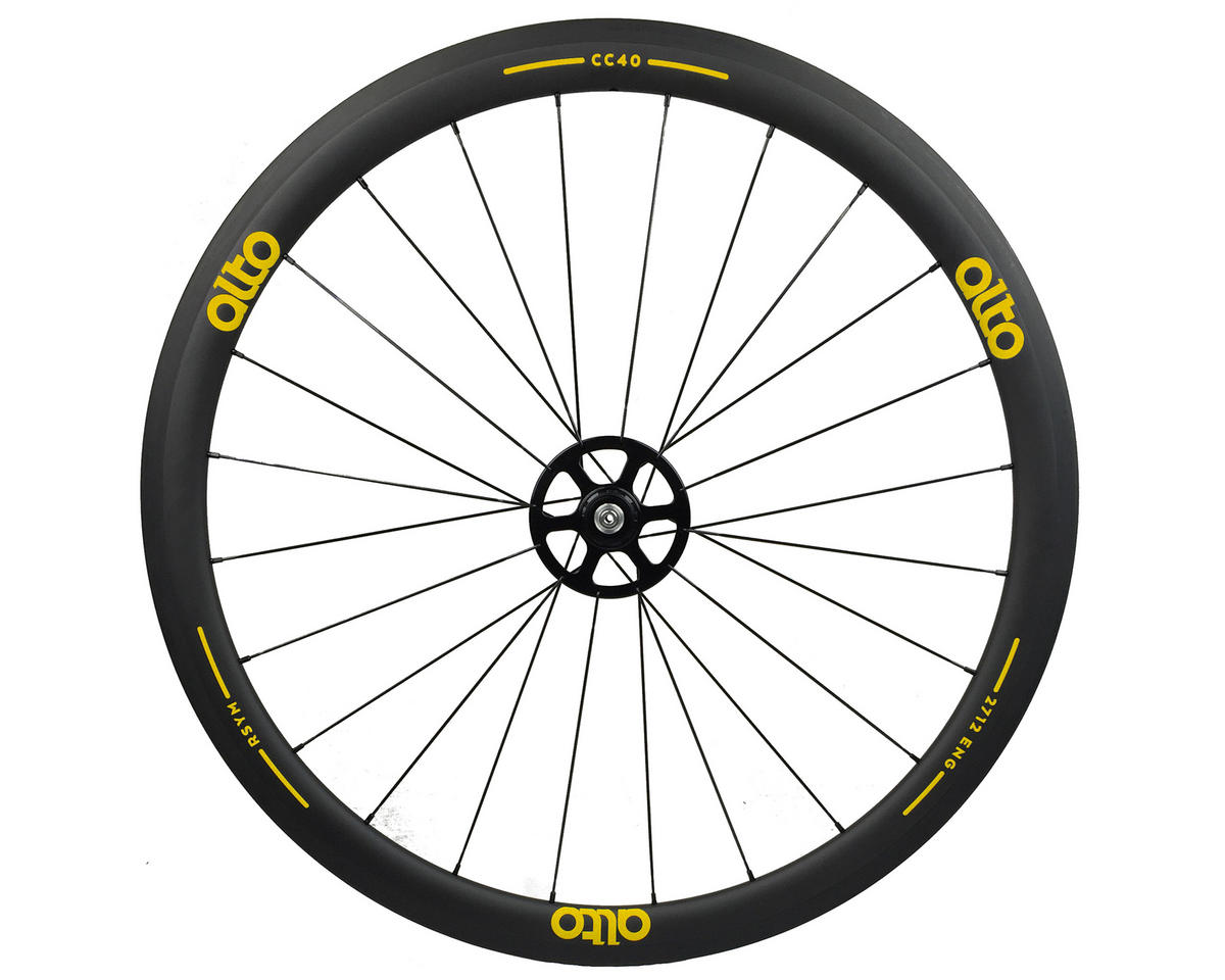 CC40 Carbon Rear Clincher Road Wheel (Yellow)