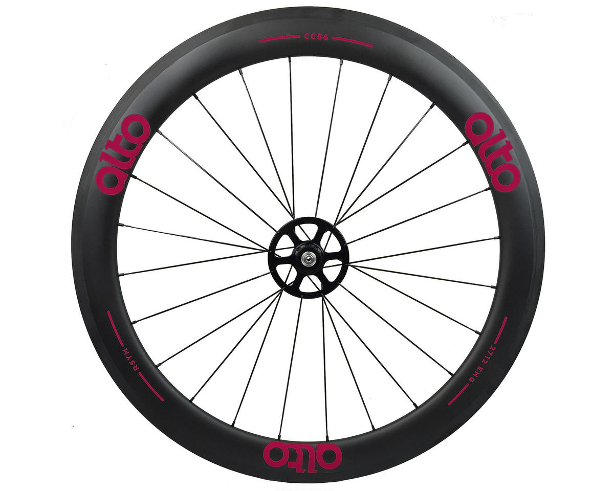 Alto Wheels CC56 Carbon Rear Clincher Road Wheel (Pink)