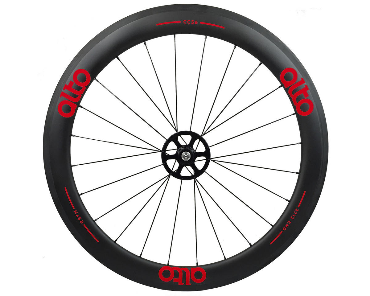 Alto Wheels CC56 Carbon Rear Clincher Road Wheel (Red)
