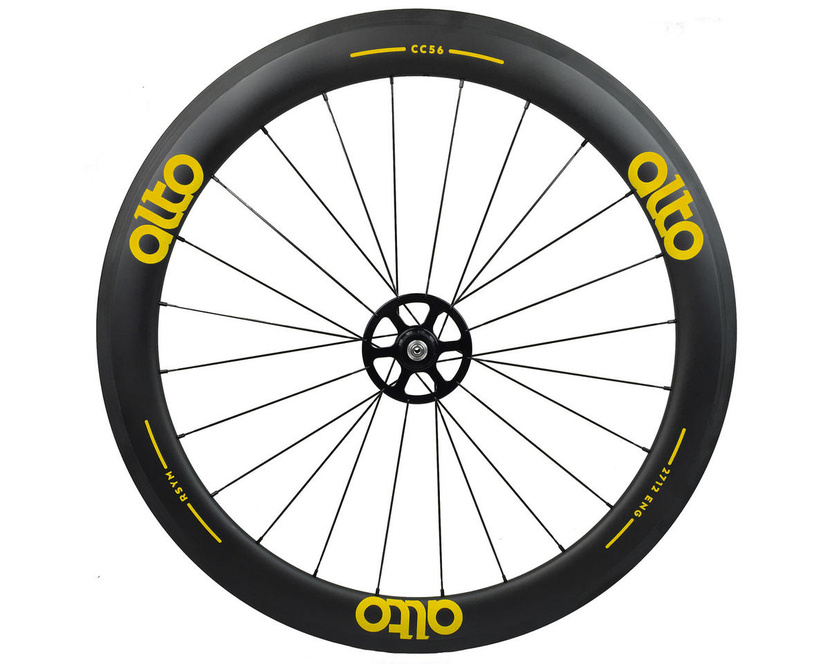 Image 1 for Alto Wheels CC56 Carbon Rear Clincher Road Wheel (Yellow)