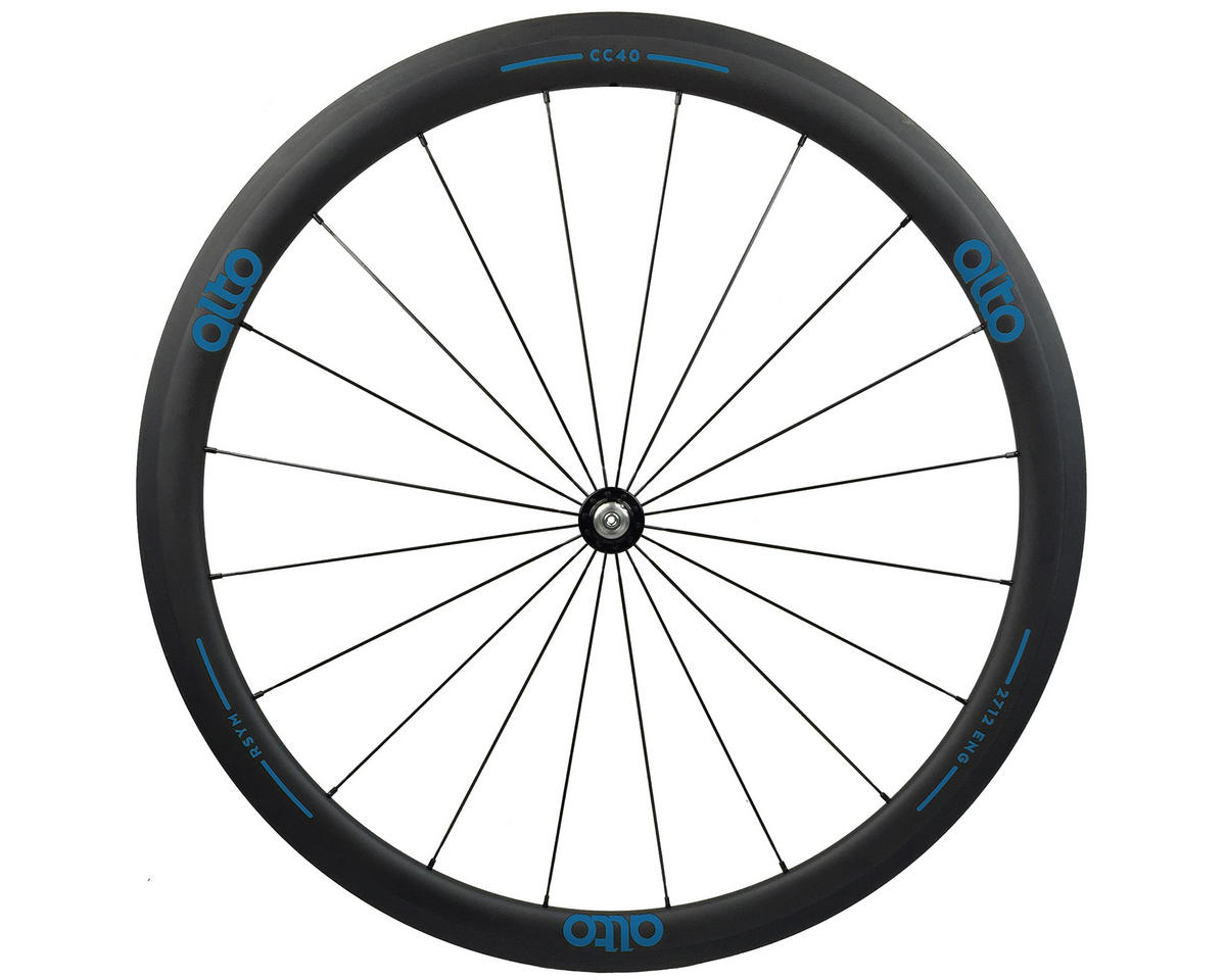 CT40 Carbon Front Road Tubular Wheel (Blue)