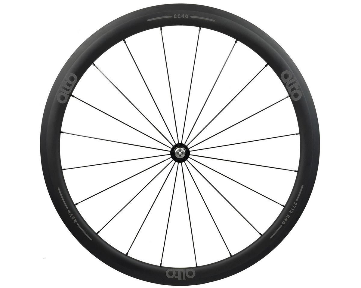 Alto Wheels CT40 Carbon Front Road Tubular Wheel (Grey)
