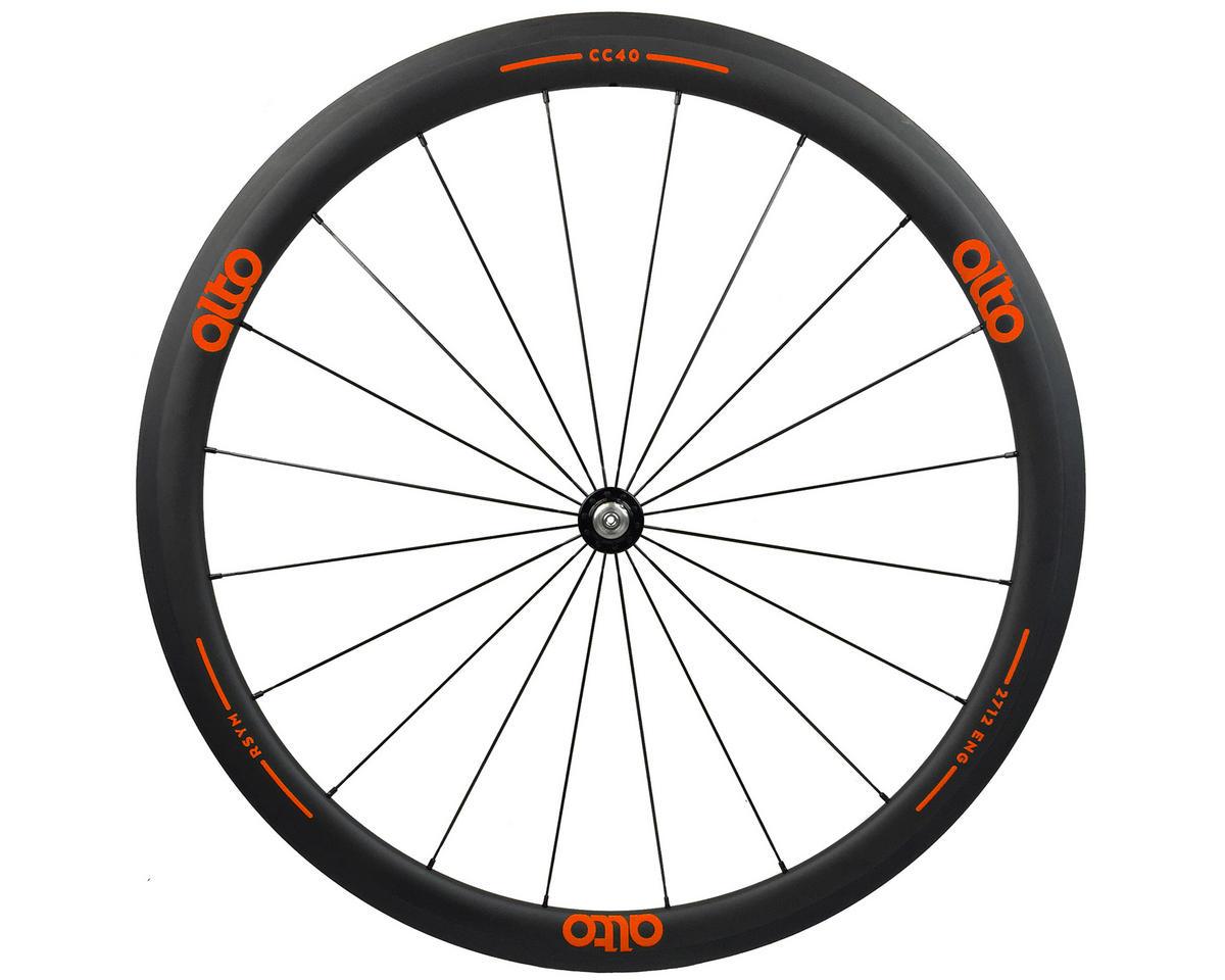 CT40 Carbon Front Road Tubular Wheel (Orange)