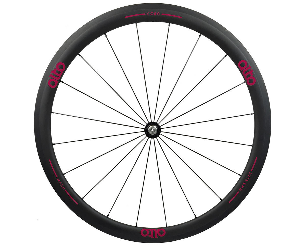 CT40 Carbon Front Road Tubular Wheel (Pink)