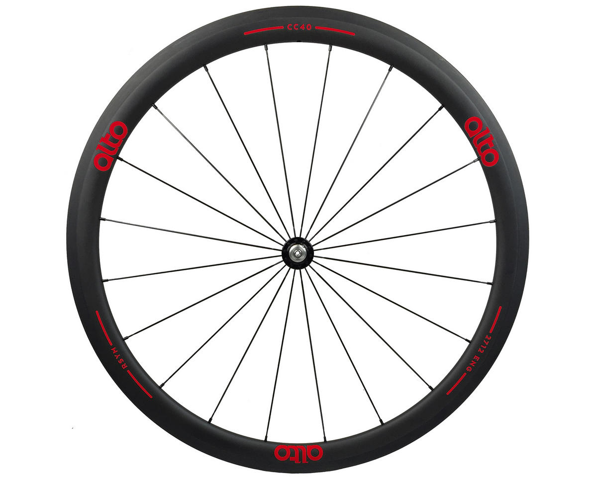 Alto Wheels CT40 Carbon Front Road Tubular Wheel (Red)