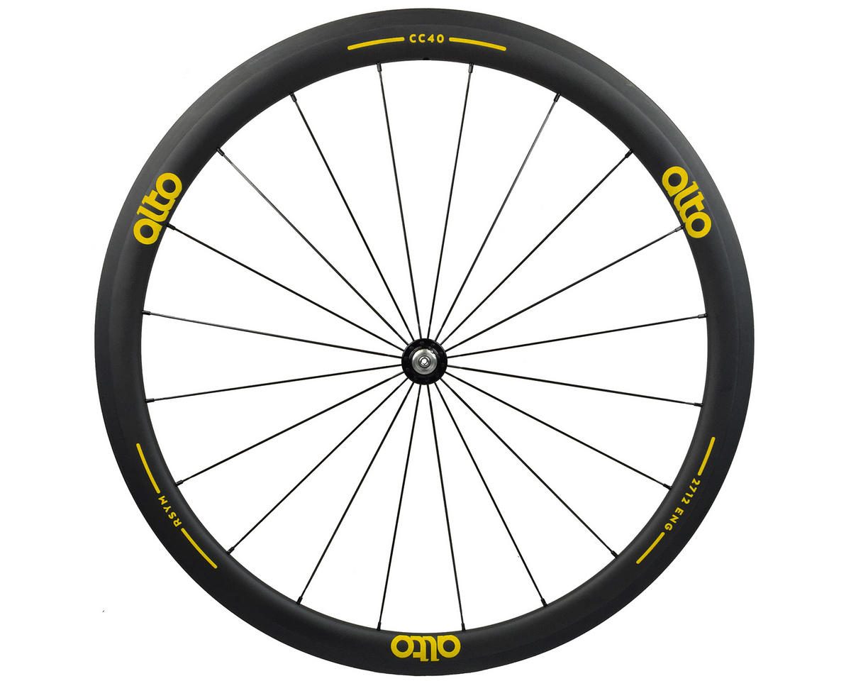 Alto Wheels CT40 Carbon Front Road Tubular Wheel (Yellow)