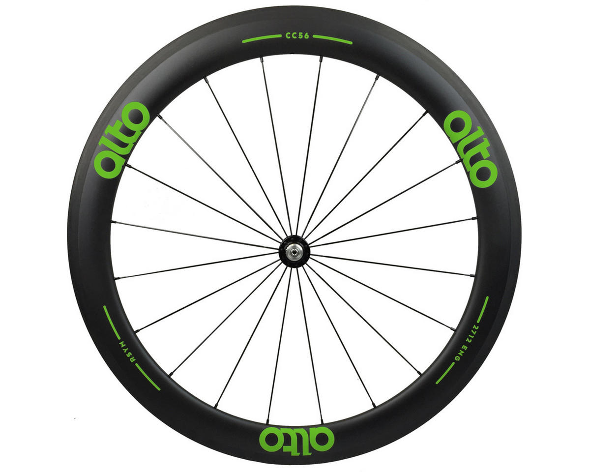 Alto Wheels CT56 Carbon Front Road Tubular Wheel (Green)