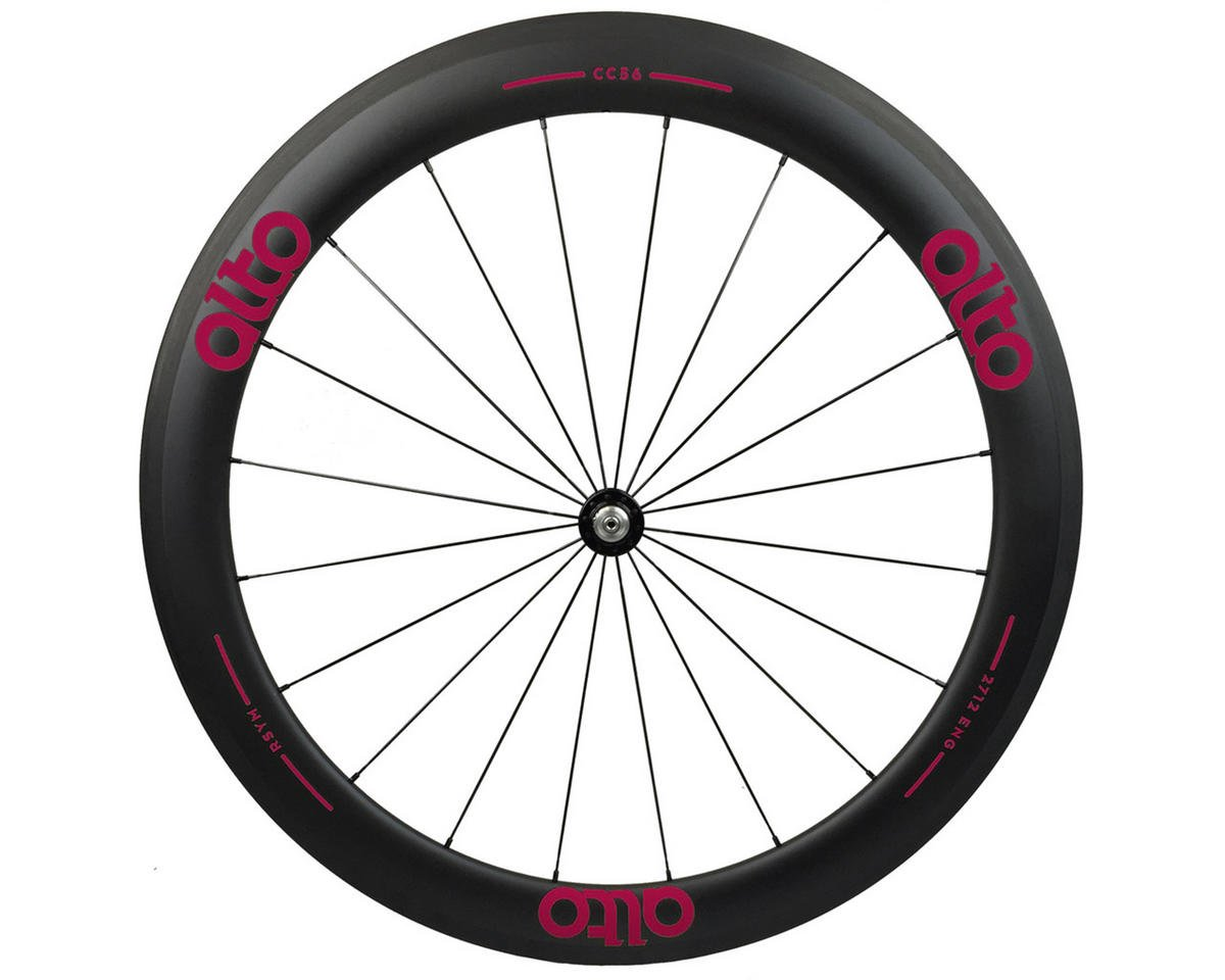 Alto Wheels CT56 Carbon Front Road Tubular Wheel (Pink)