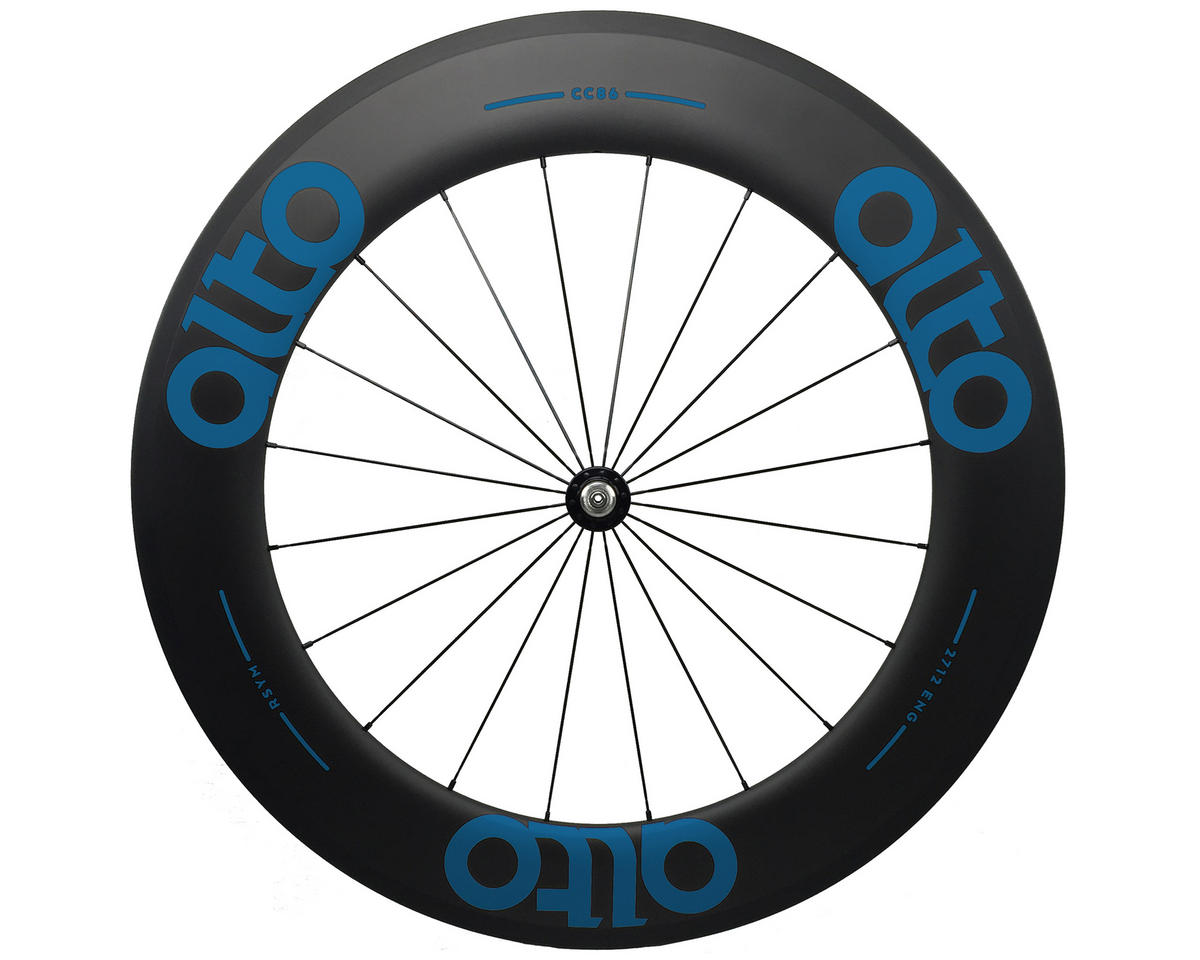 CT86 Carbon Front Road Tubular Wheel (Blue)