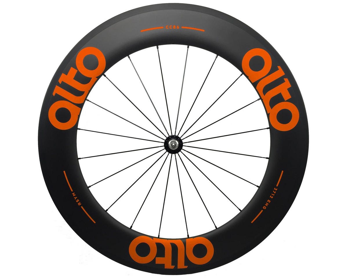 Alto Wheels CT86 Carbon Front Road Tubular Wheel (Orange)