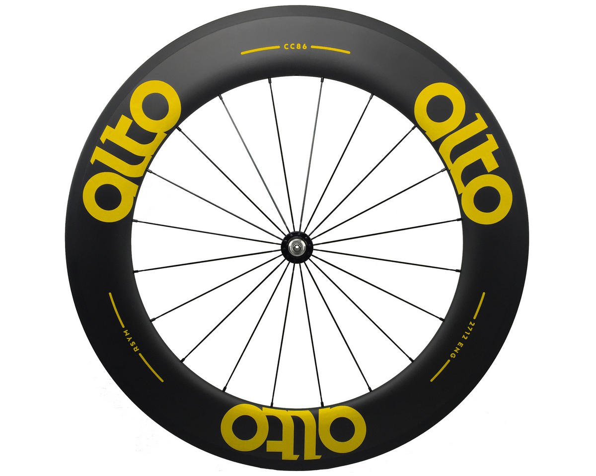CT86 Carbon Front Road Tubular Wheel (Yellow)