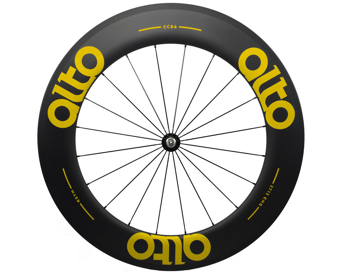 Alto Wheels CT86 Carbon Front Road Tubular Wheel (Yellow)
