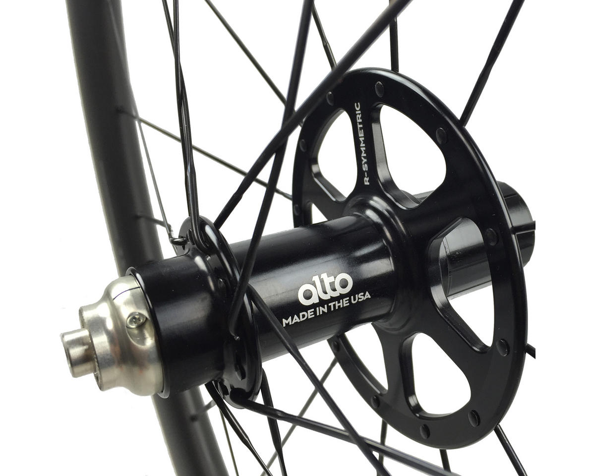 Alto Wheels CT40 Carbon Rear Road Tubular Wheel (Green)